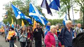 Procession: March headed towards Glasgow Green.