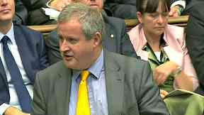 Clash: Ian Blackford spoke in the Commons.