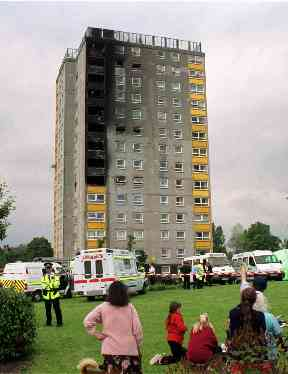 Garnock Court: Tower block in Ayrshire 'went up like a match'.