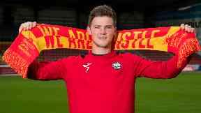 New signing: Blair Spittal paraded at Firhill on Friday.