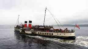 Waverley: The steamer celebrated its maiden voyage.