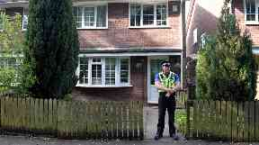 Police are searching an address in Cardiff.