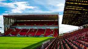 Pittodrie: Aberdeen's success on the pitch has saw revenue rise at the club.