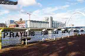 Artwork: Latest public display on banks of Clyde.