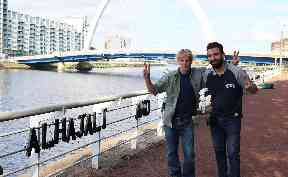 Unity: Brian and Ahmad hope piece will bring people together.