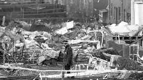 Devastation: Destroyed homes in Lockerbie.