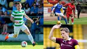 Clockwise: Jonny Hayes in action for Celtic, St Johnstone and Aberdeen facing each other and new captain Christophe Berra playing for Hearts this summer.