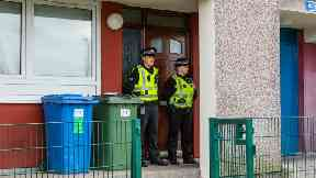 Inverness: Police cordoned off flat.