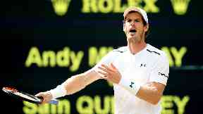 Disappointment: Andy Murray will not hold on to the Wimbledon title.