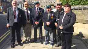 Victims: Some of the veterans turned up for Reilly's sentencing.