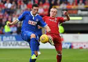 Gary Mackay-Steven started his first game for Aberdeen after signing 24 hours earlier.