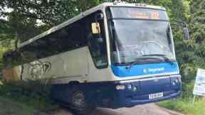A93: Police were called to assist in recovering the Stagecoach bus.