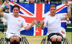 Champion: The pair won the wheelchair men's doubles final.