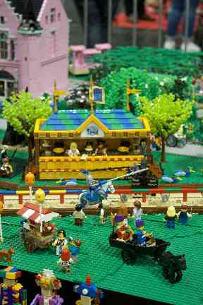 One Lego enthusiast created a medieval theme park.