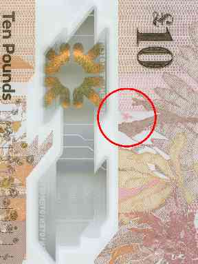 Midges appear on both the £5 and £10 notes.