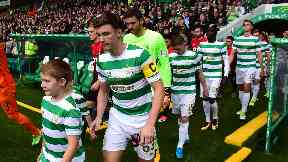 Leader: Tierney captained Celtic in the cup victory.