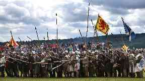 Bannockburn: Reenactors celebrate 700th anniversary in 2014.