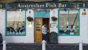 Fish bar: A four-figure sum of money was taken.