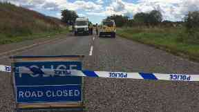 A937: Scene of fatal crash.