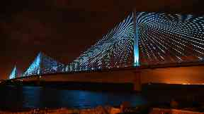 Design: Cable-stayed bridge selected out of dozens of possibilities.