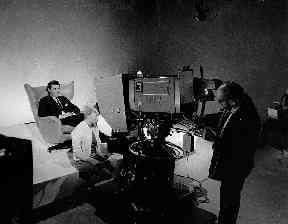 Behing the scenes on Cartoon Cavalcade in August 1967.