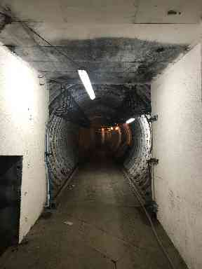 The tunnel was built to withstand a nuclear blast.