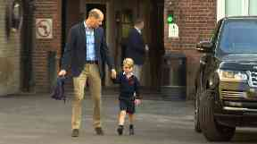 School: Prince William attended Prince George on his first day.