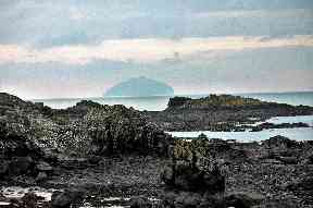 Looking out towards Ailsa Craig from the west coast.