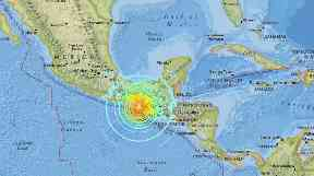 The earthquake struck just before midnight on Thursday in Mexico.