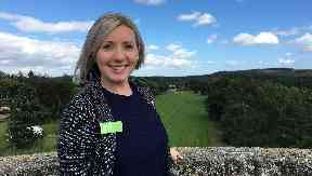 Record: Property manager Paula Swan hopes to see 2000 people at Castle Fraser.
