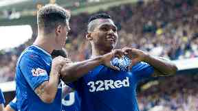 Double: Morelos struck twice for Rangers.