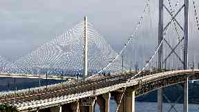 Closed: Forth Road Bridge has been shut to cars since last week.