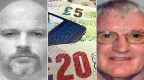 Family fraudsters: Gareth (left) and Geoffrey Johnson.