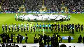 Celtic lined up against PSG in their opening Champions League fixture. SNSPIX.