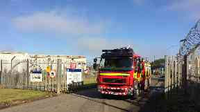 Fire: Crews tackled the blaze.