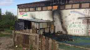 Paradykes Primary: Fire destroyed shed.
