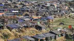 Rohingya refugee tents in Ukhiya, Bangladesh.