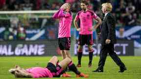 Pain: Scotland failed to qualify.