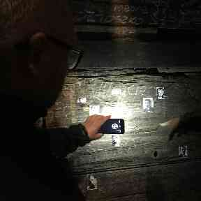 A Franciscan priest shines a light on the damage the woodworm has already caused.