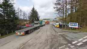 Kenmuir Sawmill: Teenager taken to hospital with arm and leg injuries.