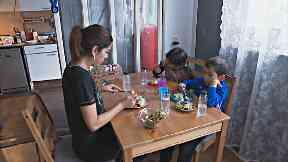 Family: Asma with son Badredinne and daughter Samya.