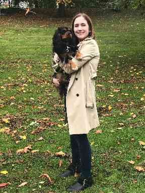 Dr Natalie Hutchinson and her dog Stella.