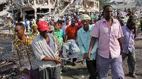 The death toll from the Mogadishu blast is expected to rise.