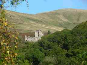 Castle Campbell in the sunshine.