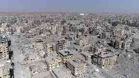 Raqqa has suffered huge destruction under IS rule.