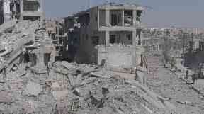 Drone footage showed the extent of the destruction in Raqqa.