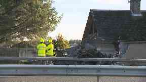 A90: The building was badly damaged.