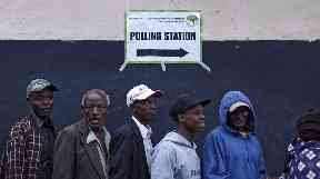 Crowds at polling stations were noticeably smaller