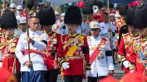 King Maha Vajiralongkorn led one of the funeral processions