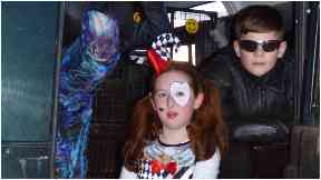 Gusing: Speyside kids ready for Halloween.